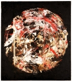 'Brave new world', acrylic chalk and tar on canvas, 80 x 90 cm., 2006 – Private Collection