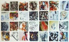 1. 'Visual Zibaldone series', mixed media on plastic, 12 x 12 cm. each, 2003