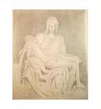 'Copy of Pietà by Michelangelo', pencil on spanish paper, 35 x 50 cm., 2010
