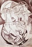 'Head', pen on paper, 42 x 29 cm., 2004