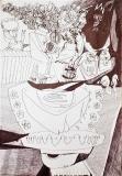'Business', pen on paper, 42 x 29 cm., 2004