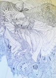 'Falling statue', pen on paper, 21 x 29 cm., 2003