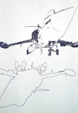 'Narcissus', (from 'F-104G series'), pen on paper, 21 x 29 cm., 2007
