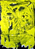4. 'Yellow face', acrylic on canvas, 40 x 60 cm., 2004