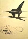 'senza titolo', penna e matita su carta, 29 x 42 cm., 2002