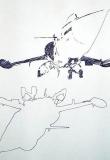 'Narciso' (dalla serie 'F-104G'), penna su carta, 21 x 29 cm., 2007