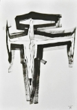 'crocifissione n.2', inchiostro su carta, 29 x 42 cm., 2018