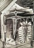 'ai piedi', penna e inchiostro su carta, 29 x 42 cm., 2018