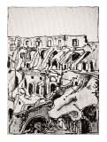 Colosseo guttusiano, penna su cartone telato, 13 x 18 cm