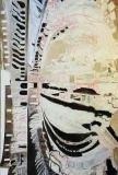 'Colosseo interno', olio acrilico e penna su tela, 170 x 110 cm., 2007