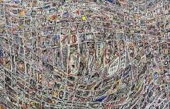Senza titolo, mista su tavola, 140 x 90 cm., 2019