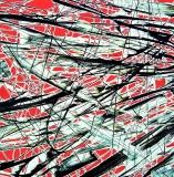 Astrattotricolore, mista su tela, 100 x 100 cm., 2015