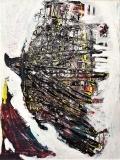 'Costruzione aerea', mista su tavola, 60 x 80 cm., 2008