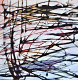 'Astratto svizzero', catrame olio e acrilico su tela, 40 x 40 cm, 2012 - Coll. Privata