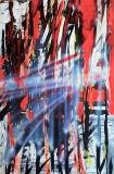 'Astratto lirico', acrilico su tela, 120 x 80 cm., 2004
