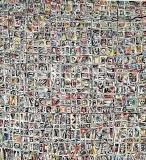 'alfabeto psichico (la civiltà degli abitanti che non vollero essere umani)', acrilico e catrame su tavola, 60 x 60 cm., 2018