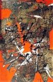 'senza titolo', mista su tela, 120 x 80 cm., 2007