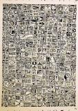 'Crittogramma #25', acrilico su carta spagnola, 45 x 65 cm ca, 2015