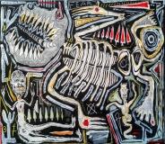 La lotta, acrilico su tavola, 120 x 140 cm, 2020