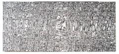 Area #21, mista su tavola, 160 x 70 cm, 2020