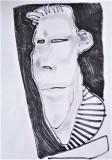 'vispo sguardo', inchiostro su carta, 21 x 29 cm., 2018