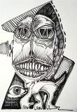 'trapezoide', pennarello su carta, 33 x 48 cm., 2018