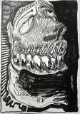 'verso buio', inchiostro e vernice su carta, 33 x 48 cm., 2018-1