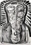 'minatore', inchiostro su carta, 21 x 29 cm., 2018