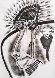 'ritratto', pennarello e inchiostro su carta, 21 x 29 cm., 2018