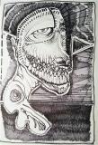 'banderuola', pennarello su carta, 33 x 48 cm., 2018