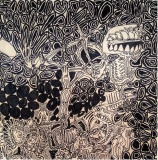 Jugendstil, pennarello indelebile su tavola, 60 x 60 cm, 2019
