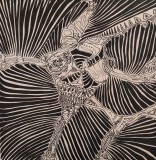 Vortex, pennarello indelebile su tavola, 60 x 60 cm, 2019