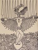 'Risurrezione', pennarello su carta, 50 x 70 cm., 2017 2017-08-23 a 17.31.09 tagliato