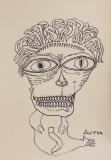 'Autoritratto', pennarello su carta, 50 x 70 cm., 2017
