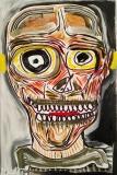 'auto?ritratto', acrilico gesso e inchiostro su tela, 28 x 41 cm., 2017