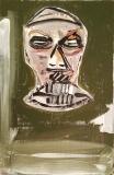 'la maschera', mista su tela, 12 x 20 cm., 2017