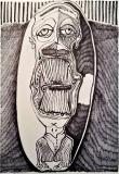 'diadema', pennarello su carta, 33 x 48 cm., 2018