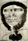 'testa colonica', pennarello su carta, 33 x 48 cm., 2018