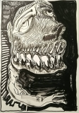 'verso buio', inchiostro e vernice su carta, 33 x 48 cm., 2018 (1)