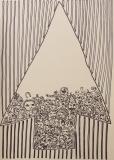 'Ascensore', pennarello su carta, 50 x 70 cm., 2017