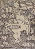 'Abajo', pennarello su carta, 50 x 70 cm., 2017