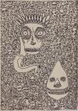 'L'interdetto', pennarello su carta, 50 x 70 cm., 2017