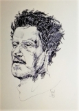 Copia ritratto di Renzo Simi fatto da Annigoni, penna su carta, formato a4, 2016