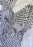 'Matrice #35', penna su carta, 21 x 29 cm., 2015
