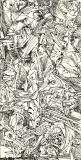 'astratto lisergico', penna su carta, 10 x 22 cm., 2005