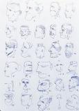 'Campionario', penna su carta, 21 x 29 cm., 2004