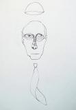 'Manager delle Risorse Papali', penna su carta, 21 x 29 cm., 2006