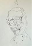 'Nella bufera dell'avvenire non c'è il sole', penna su carta, 21 x 29 cm., 2004