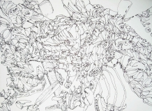 'Senza titolo', penna su carta, 21 x 29 cm., 2005
