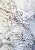 'La febbre di Falluja', penna su carta, 21 x 29 cm., 2005